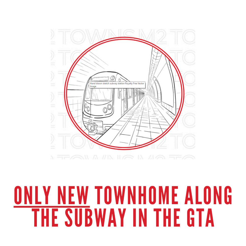 M2 towns only townhome along the subway in GTA